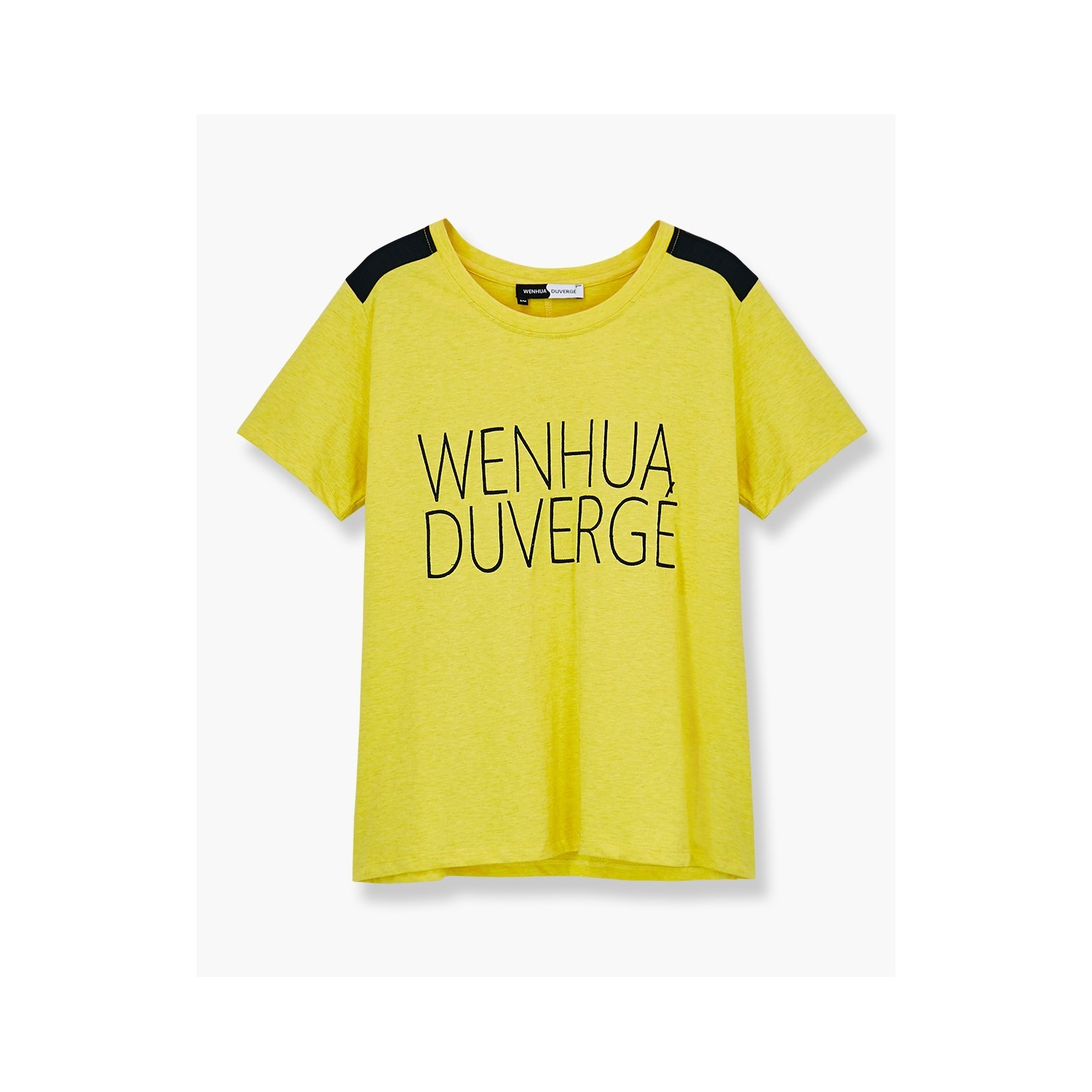 T shirt embroidered logo organic cotton wenhua duverg for Embroidered logos on shirts