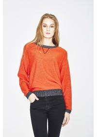 ORGANIC COTTON AND ECO EXTRAFIN MERINO WOOL SWEATER