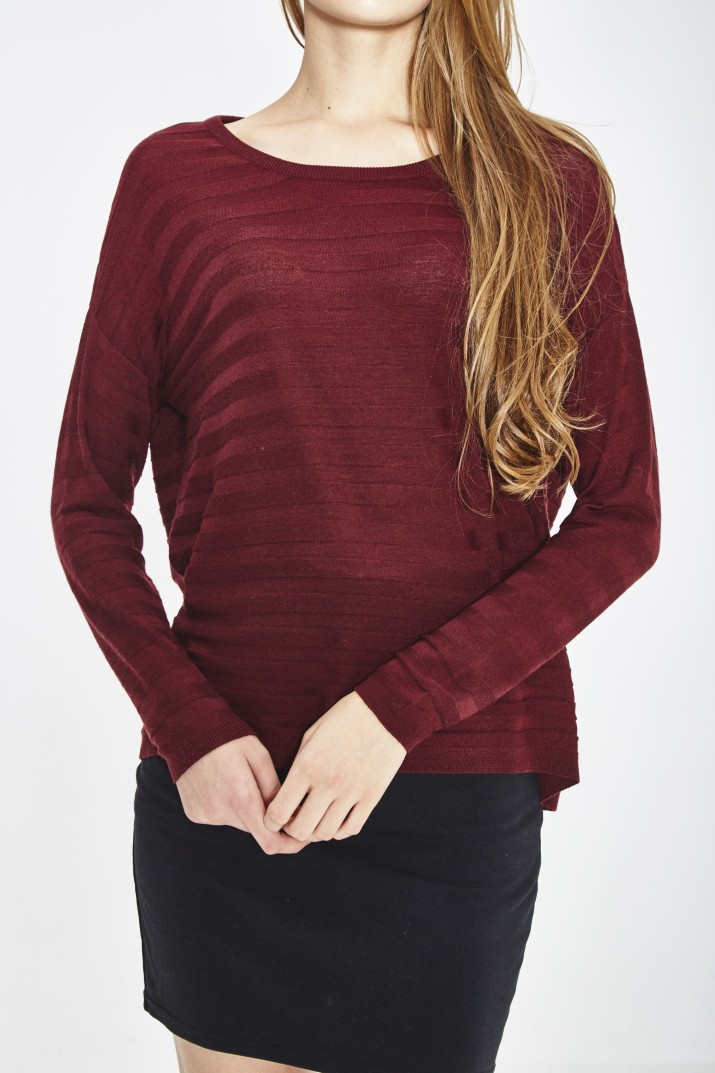 ECO EXTRAFIN MERINO WOOL SWEATER 3D STRIPE