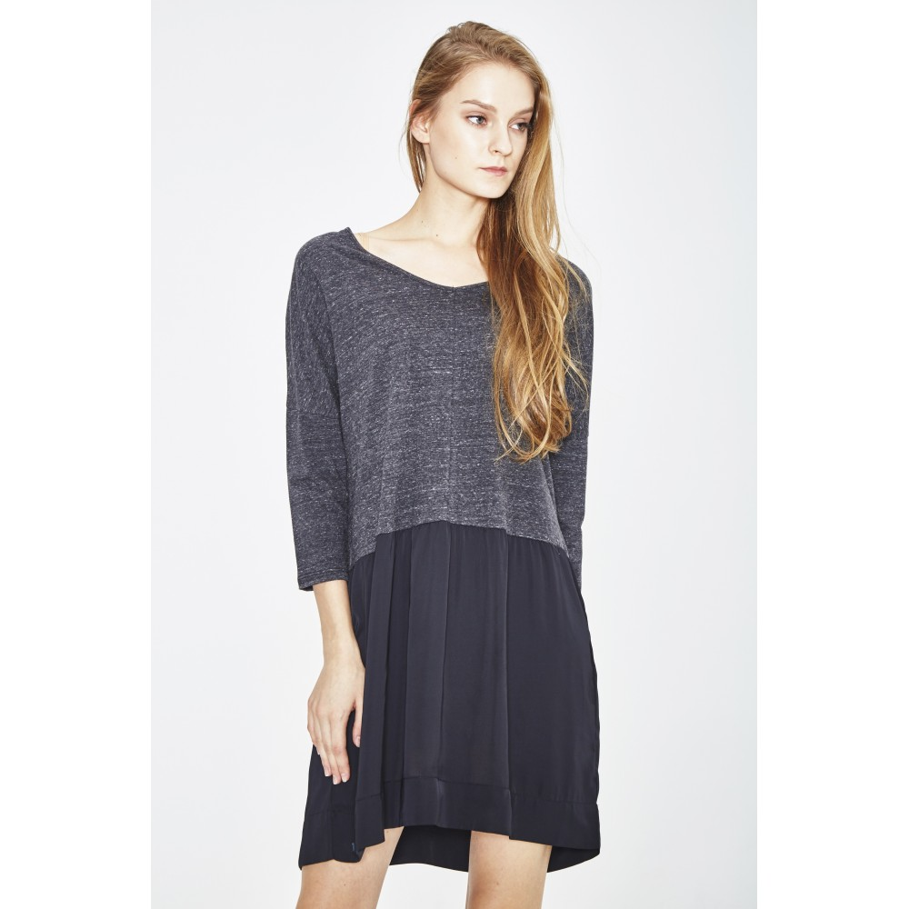 ORGANIC COTTON AND RECYCLED POLYESTER DRESS
