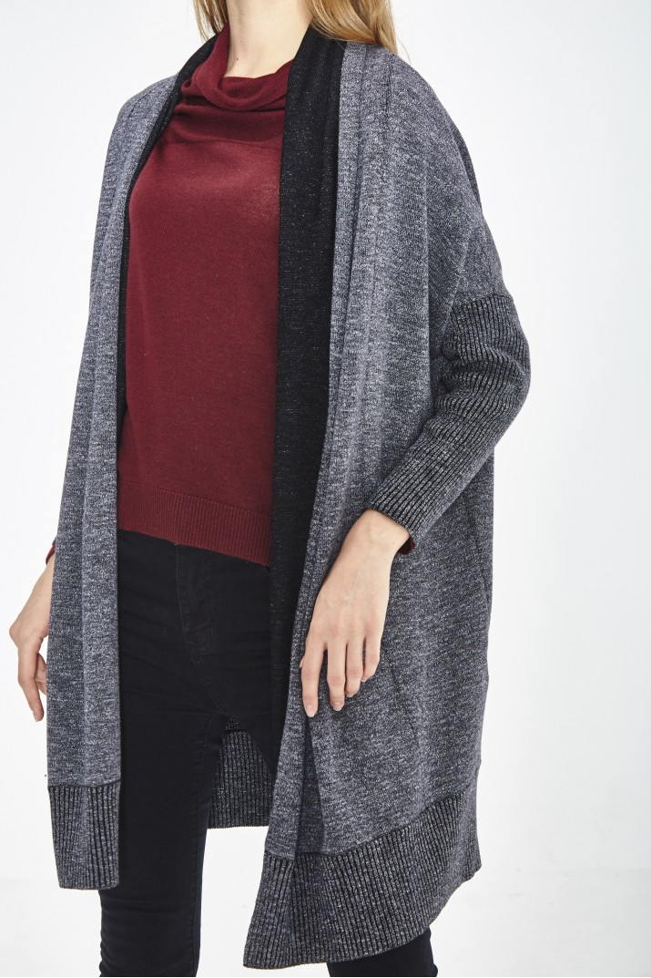 ORGANIC COTTON AND ECO EXTRAFIN MERINO WOOL coat