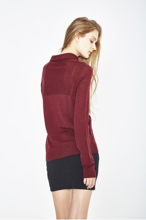 PULL COL ROULE EN ECO LAINE MERINOS EXTRAFINE