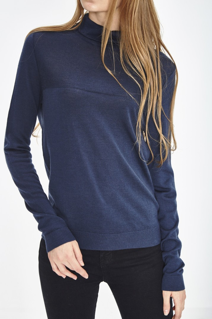 PULL COL ROULE ECO LAINE MERINOS EXTRAFINE