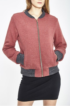 ORGANIC COTTON AND RECYCLED POLYESTER JACKET WITH RECYCLED PET PADDING