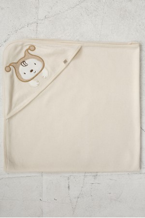 ORGANIC COTTON HOODED BATH CAPE