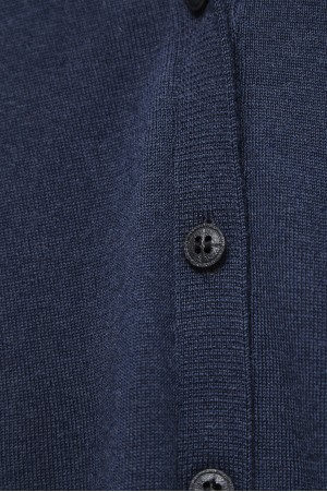 ECO EXTRAFIN MERINO WOOL CARDIGAN WITH BIODEGRADEBLE BUTTON