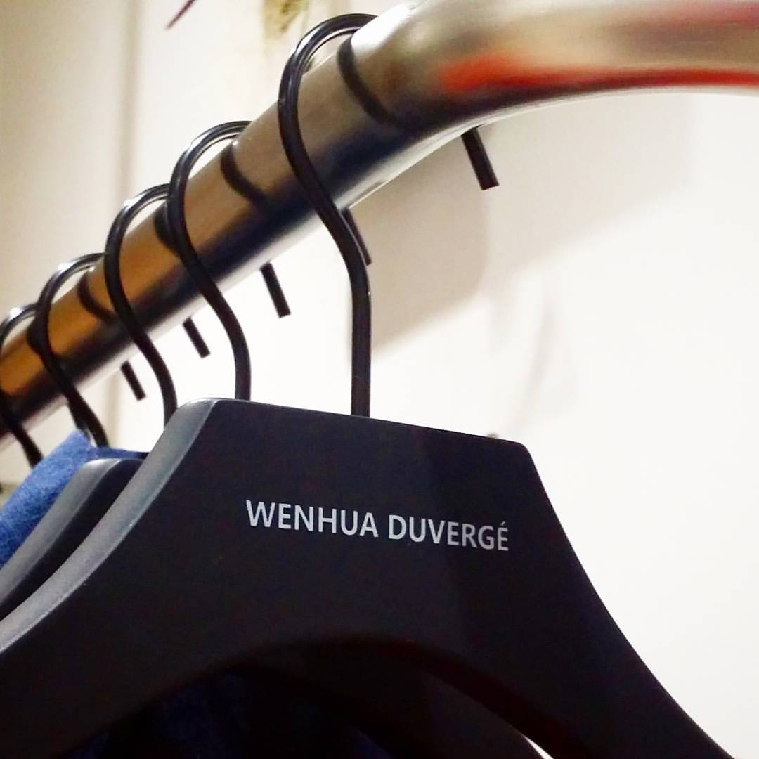 Be ecolo. Be chic. . In each detail at WENHUA DUVERGÉ . . . FSC certified hangers.